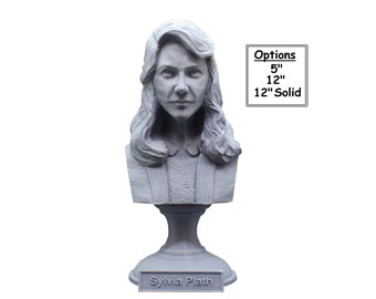 Sylvia Plath American Poet, Novelist, and short-story writer 3D Printed Bust