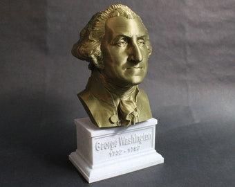 George Washington USA President #1 12 inch 2 color 3D Printed Bust