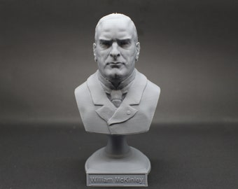 William McKinley USA President #25 5 inch 3D Printed Bust
