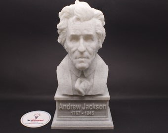 Andrew Jackson USA President #7 7 inch 3D Printed Bust