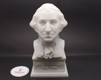 George Washington USA President #1 7 inch 3D Printed Bust