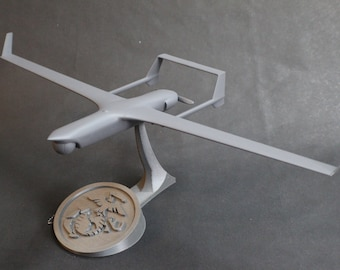 RQ-21 Blackjack Small Unmanned Aircraft System (SUAS, uav, drone, etc) Model with Stand