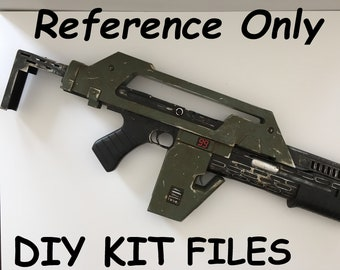 Pulse Rifle Digital Files Complete with Walk-throughs from Print to Finishing for 3D printers