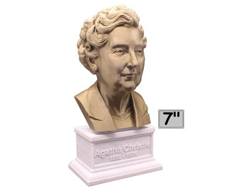 Agatha Christie Famous English Writer 7 inch Bust