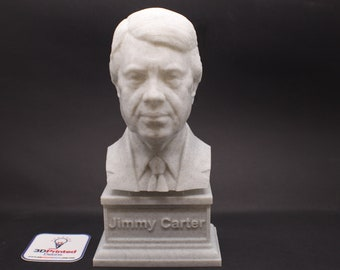 Jimmy Carter USA President #39 7 inch 3D Printed Bust