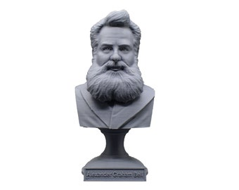 Alexander Graham Bell Famous American Inventor, Scientist, and Engineer 5 Inch Bust