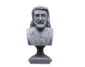 Geoffrey Chaucer Famous English Poet and Author 5 inch Bust
