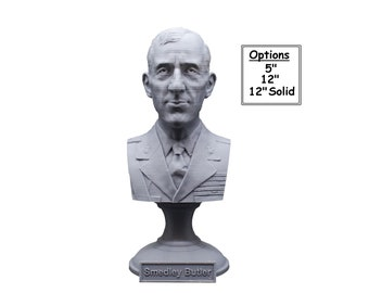Smedley Butler Most Decorated Marine Major General USMC 3D Printed Bust