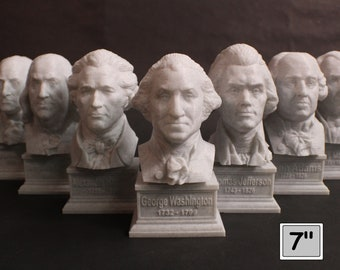 USA Founding Fathers Collection 7 inch 3D Printed Busts (7 Total)