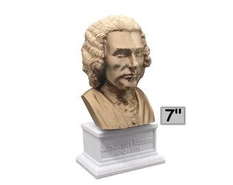 Jean-Jacques Rousseau Enlightenment Philosopher 7 inch Bust