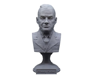 """Lewis Burwell """"Chesty"""" Puller Legendary US Marine Corps General USMC 5 Inch Bust"""