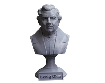 Georg Ohm Famous German Physicist and Mathematician 5 Inch Bust