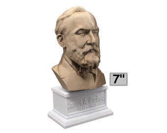 James A. Garfield USA President #20 7 inch Bust