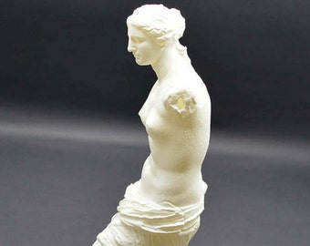Detailed Aphrodite of Milos (Venus De Milo) Resin 3D Printed Statue from Louvre Museum in Paris