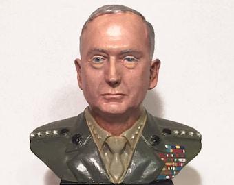 """General James """"Mad Dog"""" Mattis USMC Ret. 3D Printed Hand Painted Polished Vinyl Sculpture"""