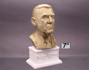 "R. Lee Ermey USMC Retired ""The Gunny"" 7 inch 3D Printed Bust"