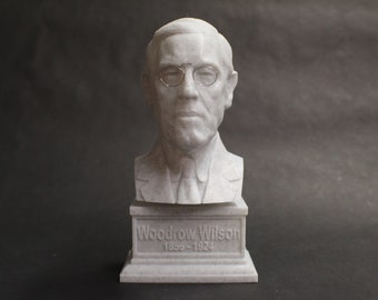 Woodrow Wilson USA President #28 7 inch 3D Printed Bust