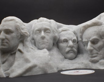 Mount Rushmore 3D Printed Replica