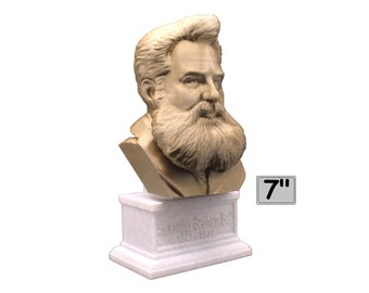 Alexander Graham Bell Famous American Inventor, Scientist, and Engineer 7 inch 3D Printed Bust