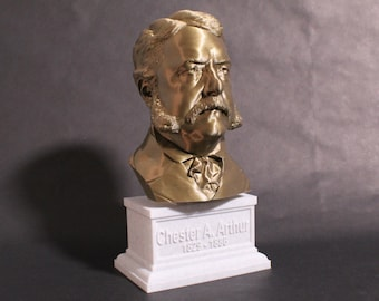 Chester A. Aurthur USA President #21 12 inch 2 color 3D Printed Bust