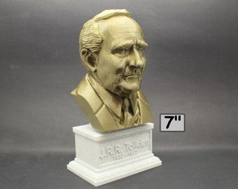 J.R.R. Tolkien Famous English Writer 7 inch 3D Printed Bust