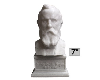 Rutherford B. Hayes USA President #19 7 inch 3D Printed Bust