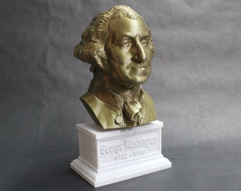 George Washington USA President #1 12 inch 2 color 3D Printed Bust