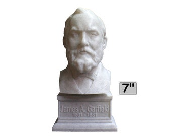 James A. Garfield USA President #20 7 inch 3D Printed Bust