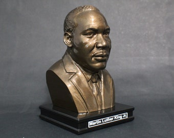 Martin Luther King Jr. 8 inch Premium Solid Bust | Sculpture Art | Activist Gift  | Library | Study | Classroom | Faces of History