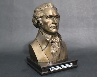 Alexander Hamilton 8 inch Premium Solid Bust | Sculpture Art | US Founding Father | Library | Study | Classroom | Faces of History