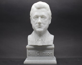 Bill Clinton USA President #42 7 inch 3D Printed Bust