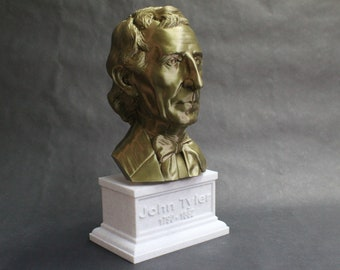 John Tyler USA President #10 12 inch 2 color 3D Printed Bust