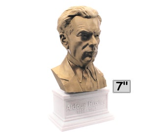 Aldous Huxley Famous English Writer and Philosopher 7 inch 3D Printed Bust