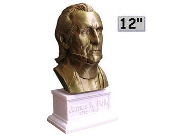 James K. Polk #11 12 inch 2 color 3D Printed Bust
