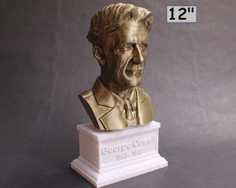 George Orwell Famous English Novelist 12 inch 3D Printed Bust