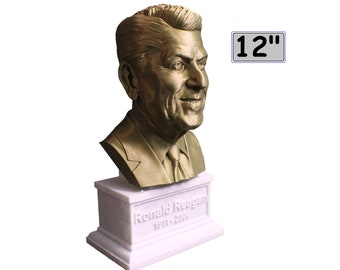 Ronald Reagan USA President #40 12 inch 3D Printed Bust