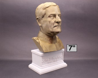 John J. Pershing Legendary US Army General and General of the Armies 7 inch 3D Printed Bust
