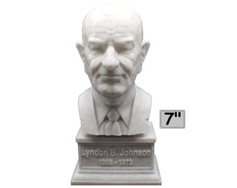 Lyndon B. Johnson LBJ USA President #36 7 inch 3D Printed Bust