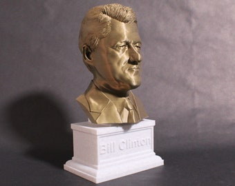 Bill Clinton USA President #42 12 inch 2 color 3D Printed Bust