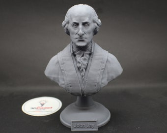 John Jay Founding Father  5 inch 3D Printed Bust