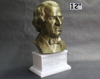 Andrew Johnson USA President #17 12 inch 2 color 3D Printed Bust