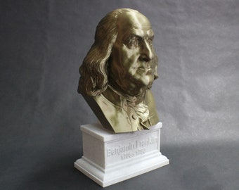 Benjamin Franklin USA Founding Father 12 inch 3D Printed Bust