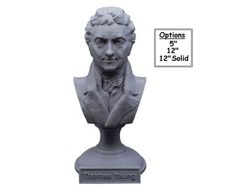 Thomas Young Famous British Physicist, Mathematician, and Mechanical Engineer 3D Printed Bust