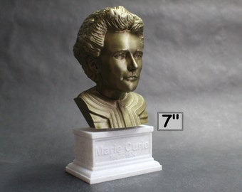 Marie Curie Polish Chemist, Nobel Prize Winner, and Researcher of Radioactivity 7 inch 3D Printed Bust