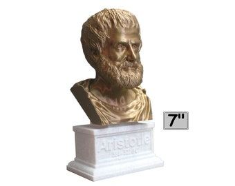 Aristotle Greek Philosopher 7 inch 3D Printed Bust