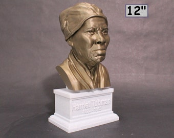 Harriet Tubman American Abolitionist and Political Activist 12 inch 3D Printed Bust