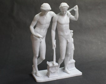 Castor and Pollux (polydueces, gemini, Castores, Dioscuri) FDM 3D Printed Statue from Royal Cast Collection at SMK in Denmark