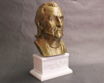 James K. Polk #11 12 inch 2 color 3D Printed Bust