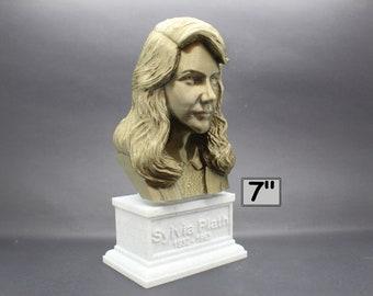 Sylvia Plath American Poet 7 inch 3D Printed Bust