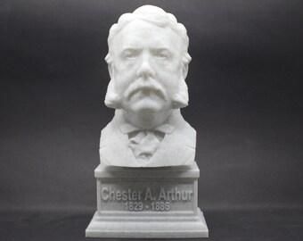 Chester A. Aurthur USA President #21 7 inch 3D Printed Bust